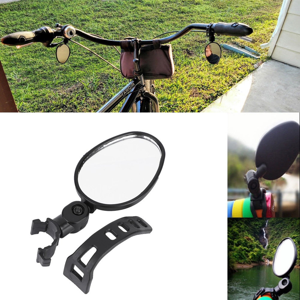 Bicycle Handlebar Rear View Mirror 360 Rotation for MTB Mountain Road Bike