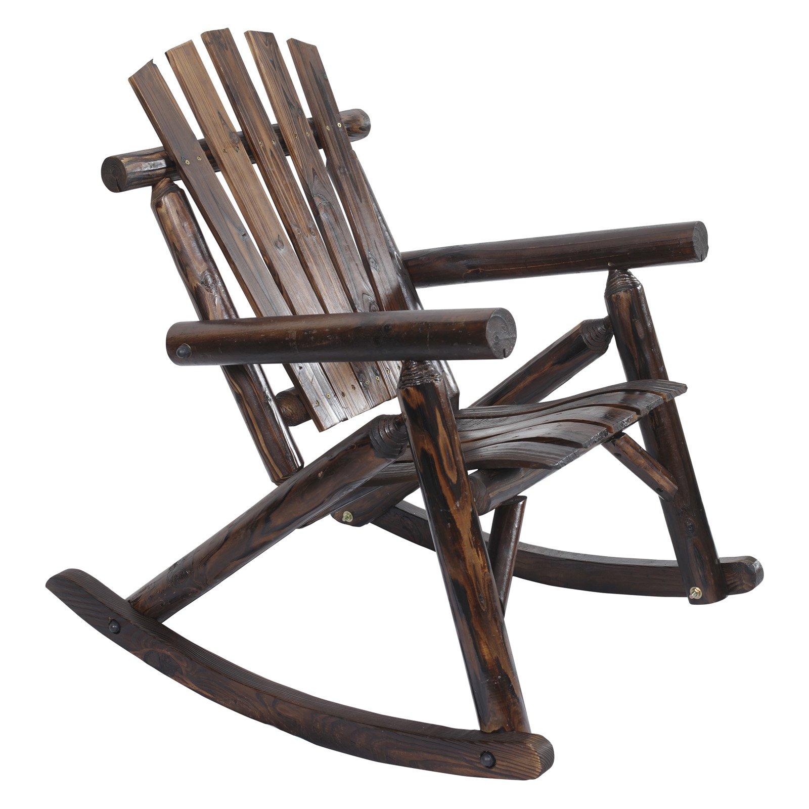 Great American Furniture Classics Log Rocking Chair, Burnt Finish   Walmart.com