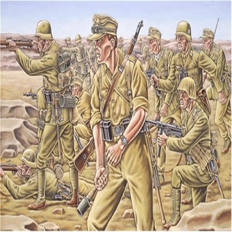 Afrika Corps Figures WWII 1 72 Revell Germany by