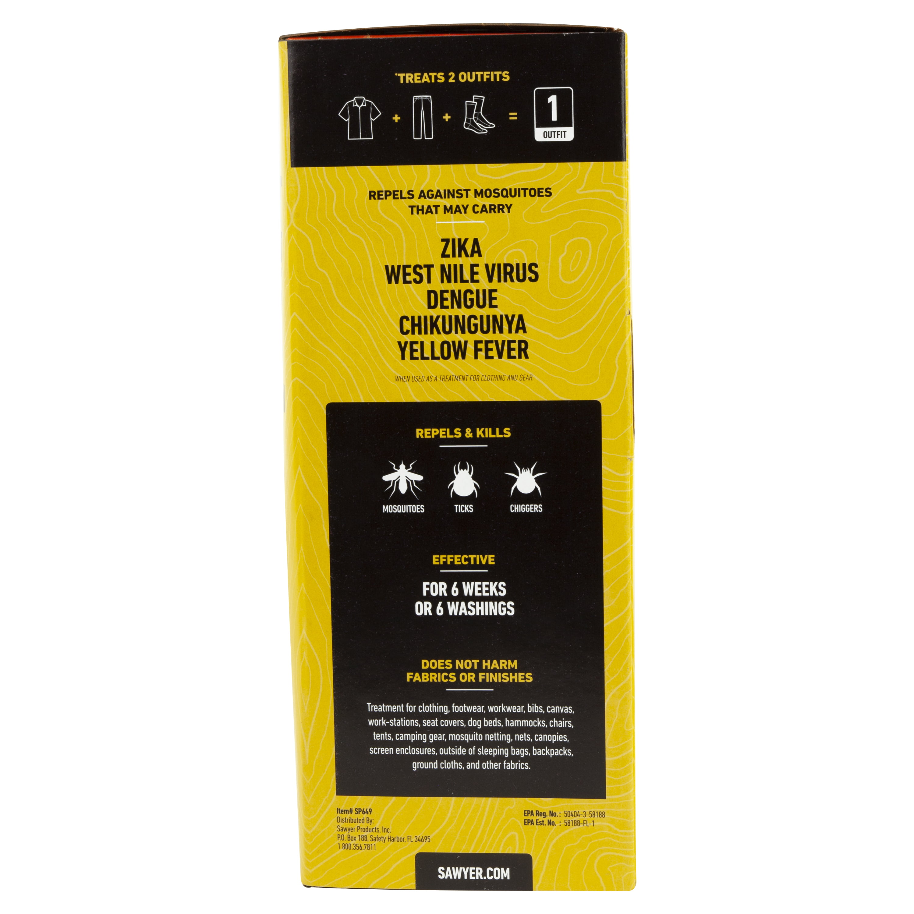 Sawyer Products Permethrin Premium Clothing Insect Repellent   12 Oz  Trigger Spray