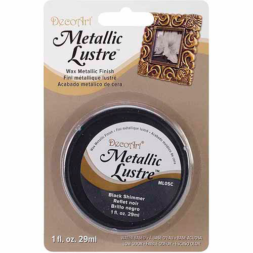 Decoart Metallic Lustre 1oz Black Shimmer