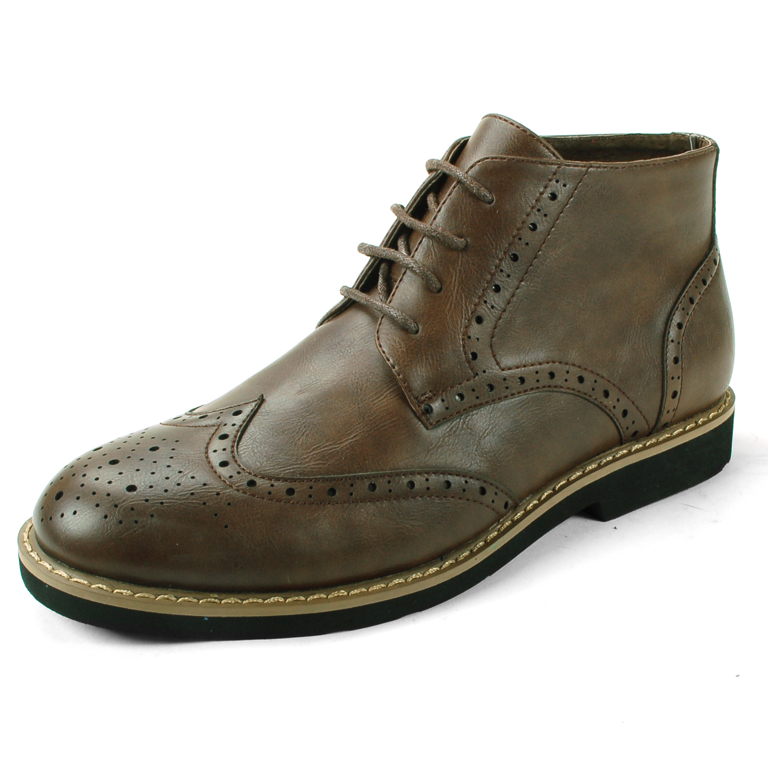 Travel High, Mens Brogues Gold Brothers