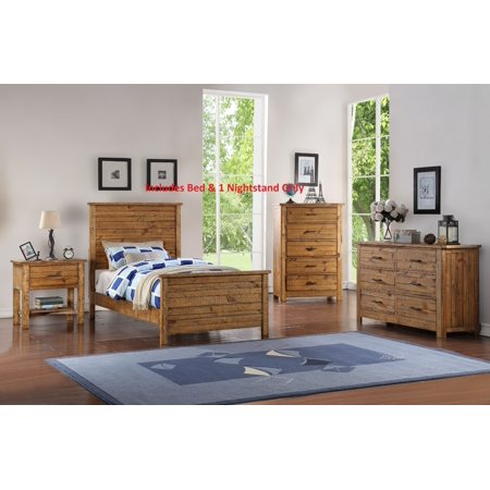 Madison 2 Piece Full Size Natural Wood Rustic Kids Bedroom ...