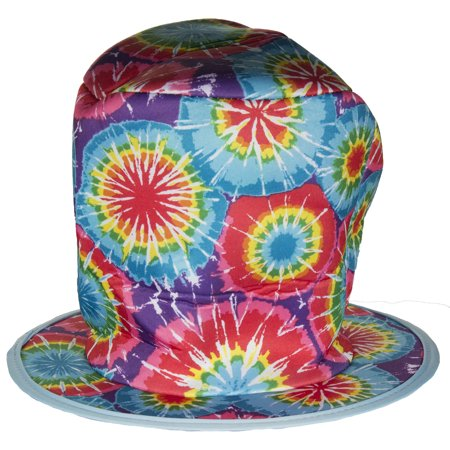 Costume Accessory- Tie-Dye Style Mad Hatter Felt Top Hat - Mad Hatter Hats Cheap