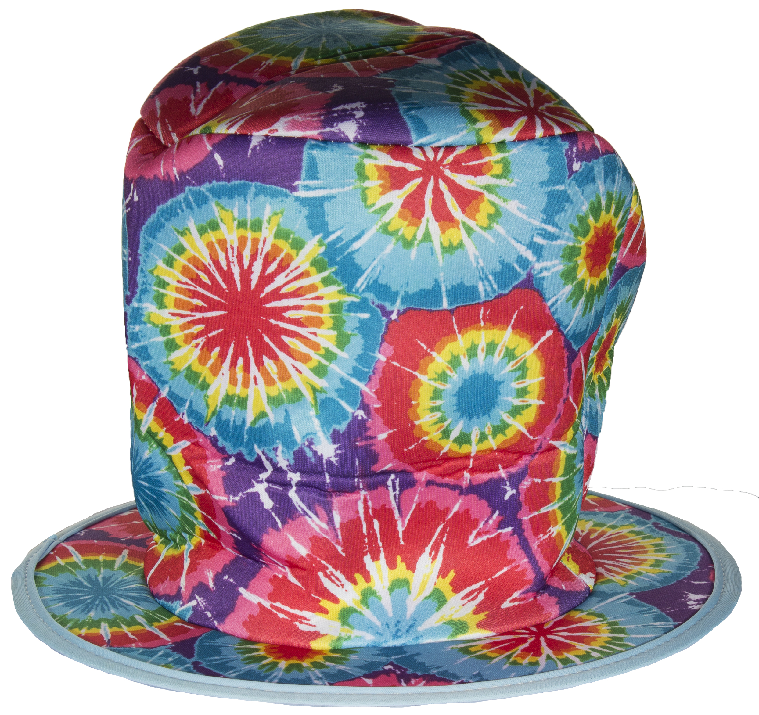 Costume Accessory- Tie-Dye Style Mad Hatter Felt Top Hat