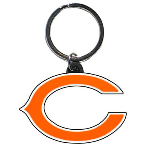 NFL Chicago Bears Flex Laser Cut Rubber Keychain