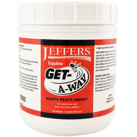 Jeffers Get-A-Way Feed Thru Horse Fly Control, 2 lb (64 (Best Feed Through Fly Control For Horses)
