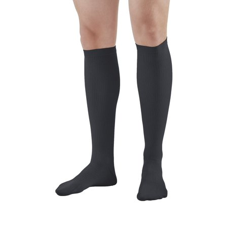 Gray Dress Socks (Ames Walker AW Style 100 Men's Dress 20-30mmHg Firm Compression Knee High Socks   - Relieve tired aching and swollen legs - Symptoms of varicose veins - Balloon toe)