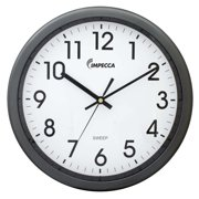 Impecca WCW12M1GY 12 Inch Quiet Movement Wall Clock - Grey