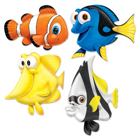 The Beistle Company Under The Sea Fish Cutouts Wall D cor (Fish Cutout)
