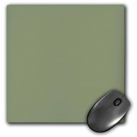 3Drose Moss Green   Greenish Grey Gray   Muddy Plain Simple One Single Solid Color   Brown Green Sage  Mouse Pad  8 By 8 Inches