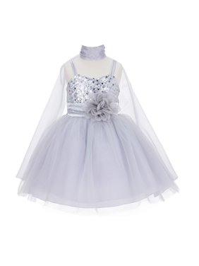 c24475f3de3a Product Image Ekidsbridal Wedding Pageant Sequin Flower girl dress Tulle  with Shawl Bridesmaid Wedding Pageant Toddler Recital Easter