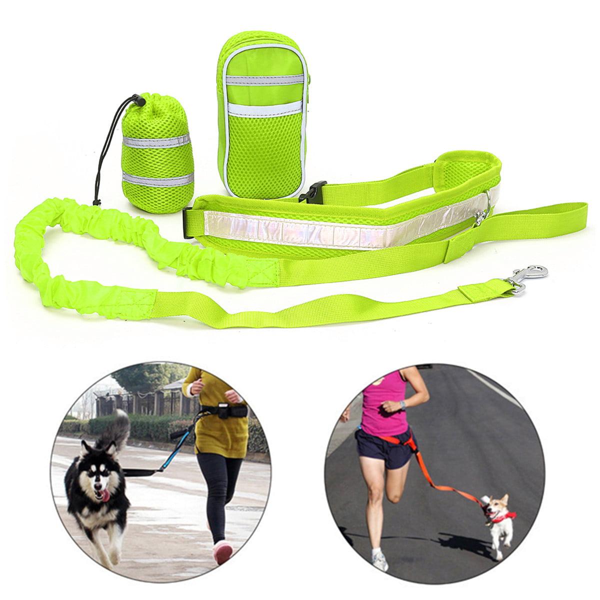 Polyester Elastic Pet Dog Leash Lead Strap Rope Waist Belt For Walking Running