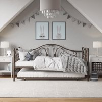 DHP Bombay Metal Daybed Frame and Trundle Set, Bronze