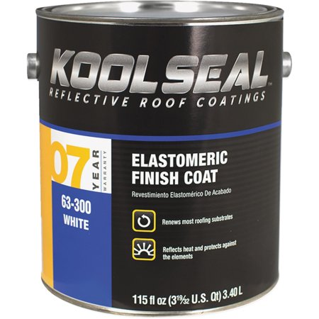 - Kool Seal White Elastomeric Roof Coating