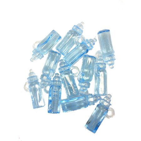 Mini Clear Blue Plastic Baby Bottles, Pack of 144 - 1.5 Inch Tall - Mini Baby Bottles