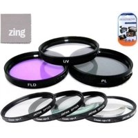 52mm Multi-Coated 7 Piece Filter Set Includes 3 PC Filter Kit (UV-CPL-FLD-) And 4 PC Close Up Filter Set (+1+2+4+10) For Canon EF 50mm f/2.5 Compact Macro Lens + MicroFiber Cleaning Cloth + LCD...