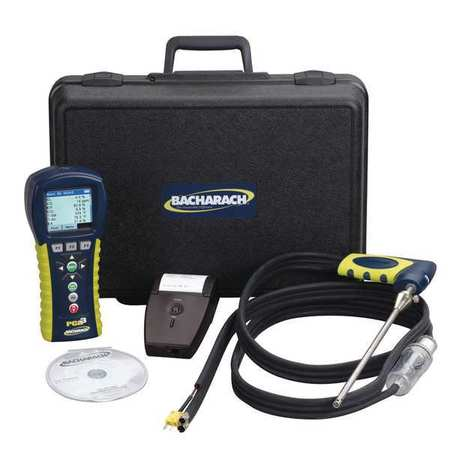BACHARACH 24-8451 Combustion Analyzer Kit,O2,CO,NO,NO2