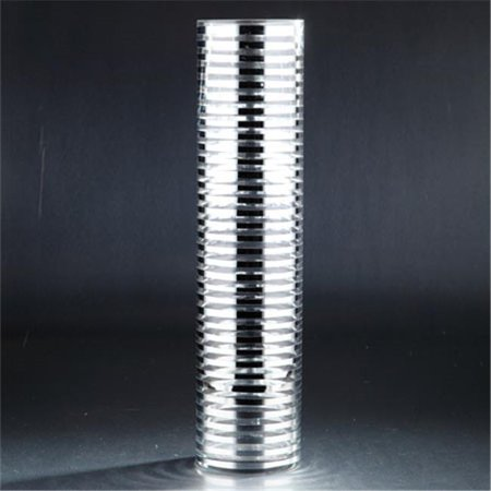 - Diamond Star 91025 19. x 4.5 in. Glass Cylinder, Silver