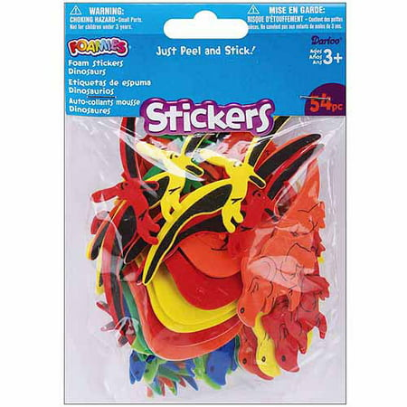 Foam Stickers, 54pk - Foam Sticks