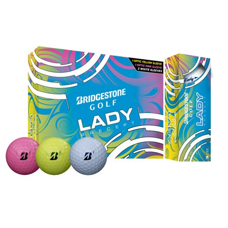 Bridgestone Golf Lady Precept Golf Balls, Assorted Colors, 12 Pack