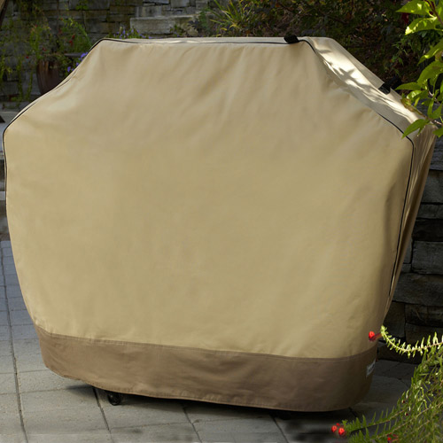 """Sure Fit 60"""" Medium Wide Two-Tone Grill Cover, Taupe Olive by Generic"""