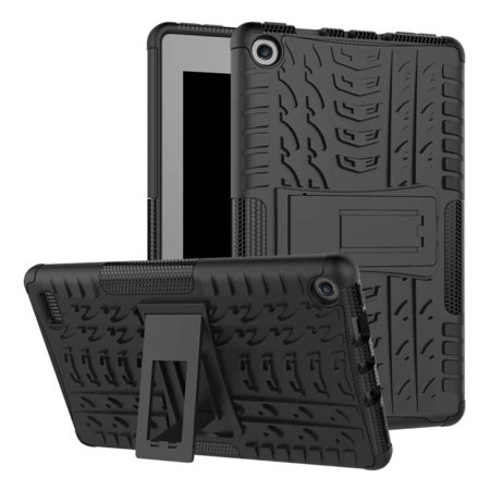 Rugged Shockproof Case Stand Cover For Amazon Kindle Fire 7 2017 7th Gen Tablet (White Amazon Kindle)