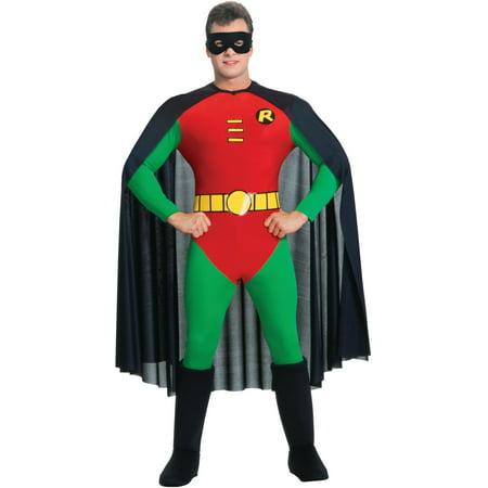 adults mens deluxe batman classic robin boy wonder costume walmartcom