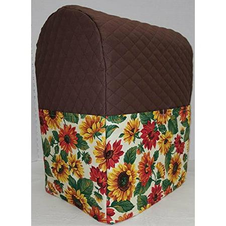 Sunflowers Kitchenaid Stand Mixer Cover Chocolate Brown