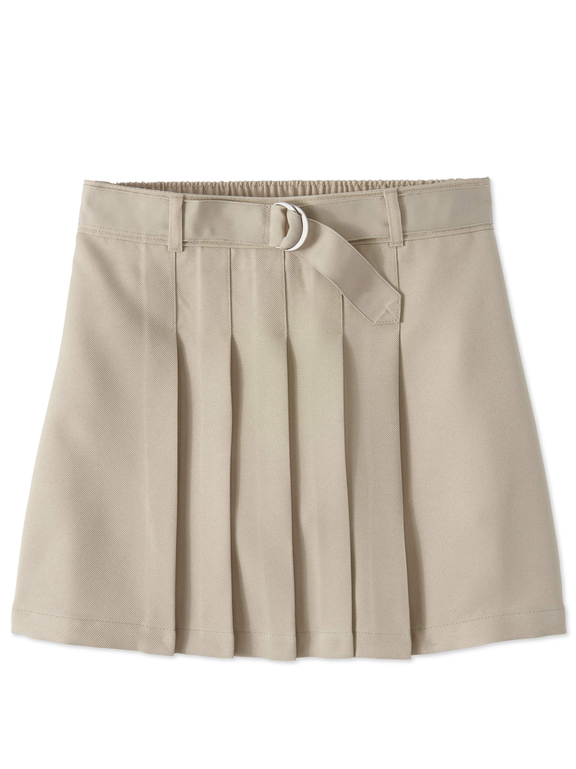 Girls School Uniform Pleated Belted Scooter