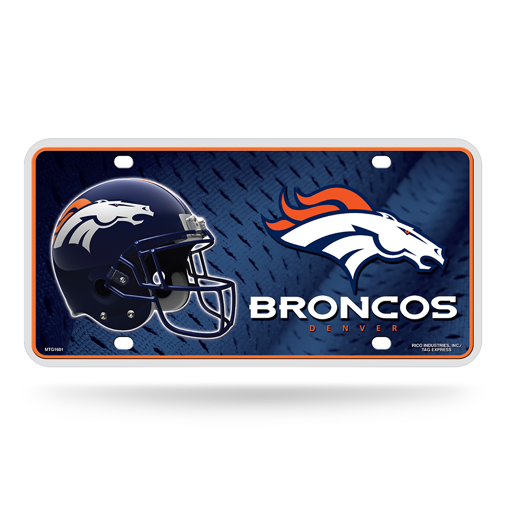 Denver Broncos NFL Metal Tag License Plate