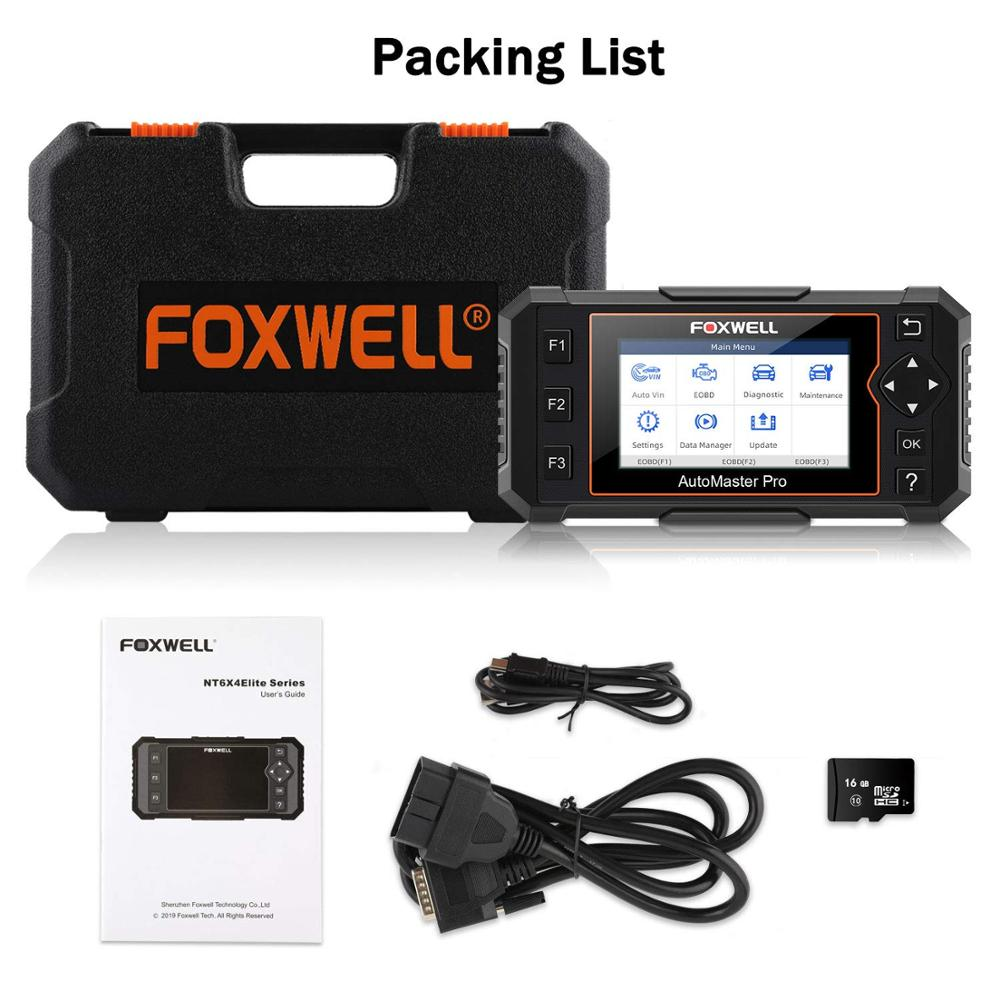Auto Car Scan Diagnostic Scan Tool Engine ABS SRS Airbag EPB OIL Foxwell NT614