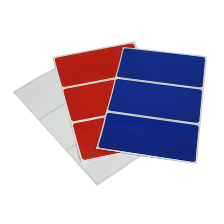 Red, White and Blue rectangular labels 4x2 perfect for party favor tags, 4th of July all American - 36 pack by Royal Green (Fourth Of July Party Favors)