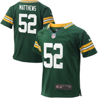 Clay Matthews Green Bay Packers Nike Preschool Game Jersey - Green - 5/6