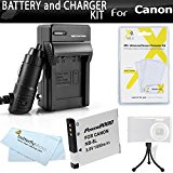 Battery And Charger Kit For Canon PowerShot A3300 IS, A22...