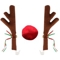 Sterling Auto Christmas Reindeer Car Accessory Decoration Kit- Car Reindeer Antlers & Nose (1 Pack)