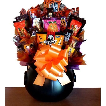 - Halloween Delectable Sweet Treats Candy Bouquet Gift Basket