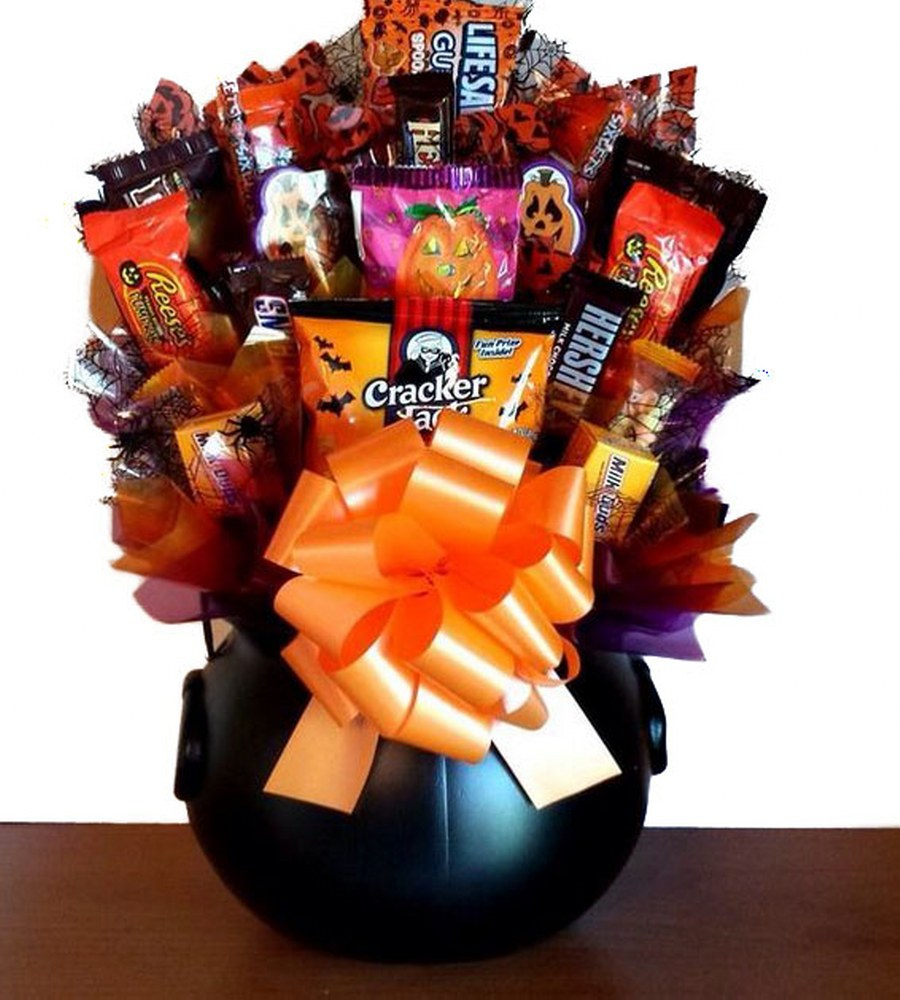 Halloween Delectable Sweet Treats Candy Bouquet Gift Basket