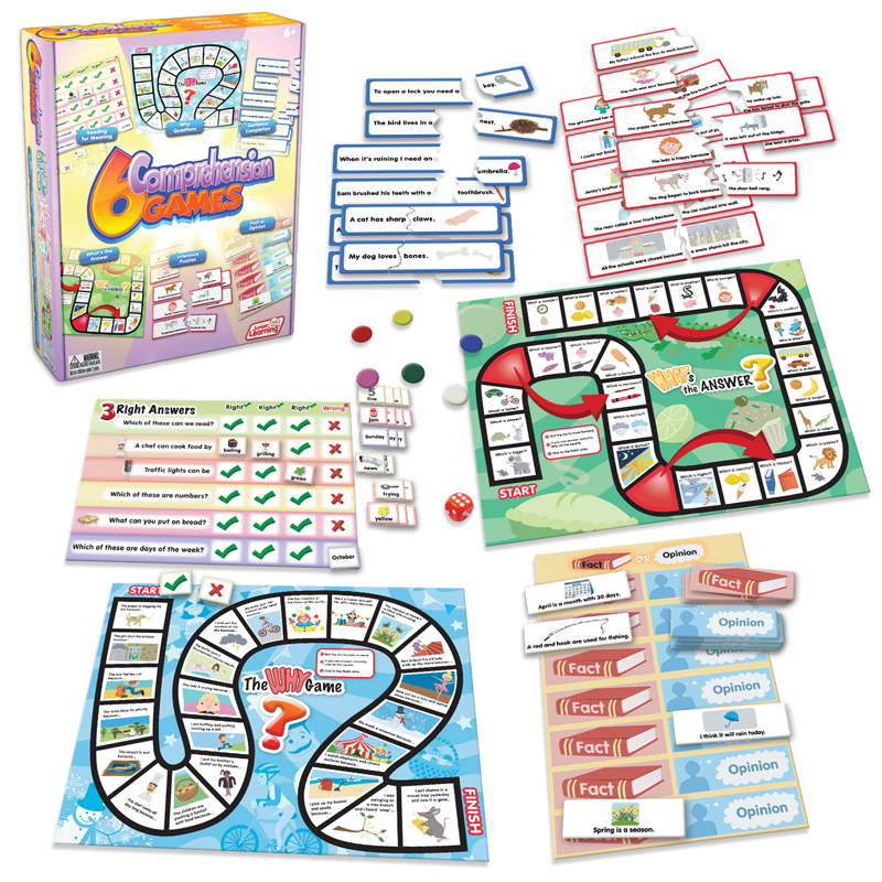 Junior Learning Comprehension Games, Set of 6 Different Games
