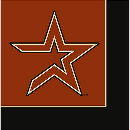 MLB Houston Astros Lunch Napkins (24ct) - Baseball Napkins