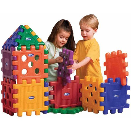 CarePlay Grid Blocks, Set of 16, Assorted Colors