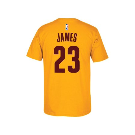 Cleveland Cavaliers Lebron James Adidas Nba Men Player T Shirt Gold