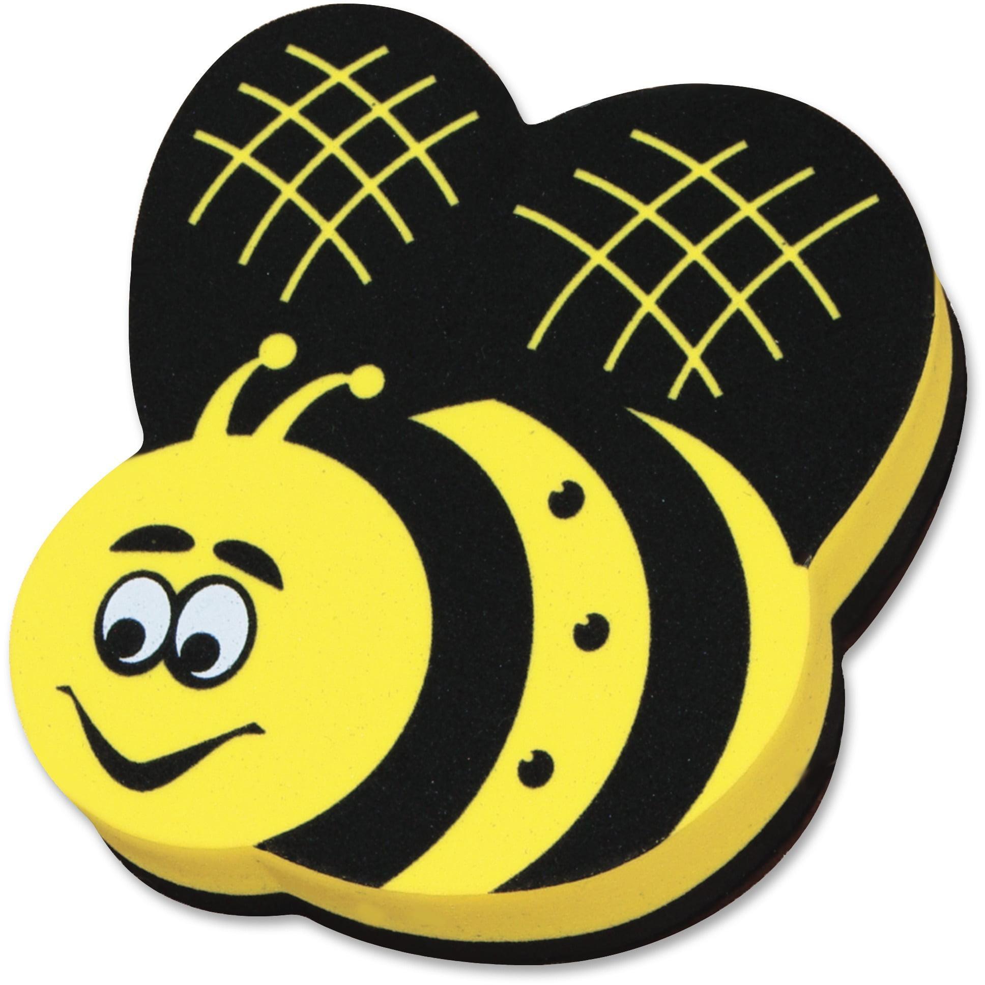 Ashley, ASH10019, Bee Design Magnetic Whiteboard Eraser, 1 Each, Yellow,Black