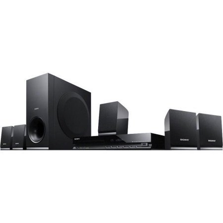 Sony 300 Watt 5.1 Channel DVD Home Theater Surround Sound Entertainment System With DVD Player, USB, HDMI, FM Tuner Plus Superior 6Ft High Speed HDMI Cable
