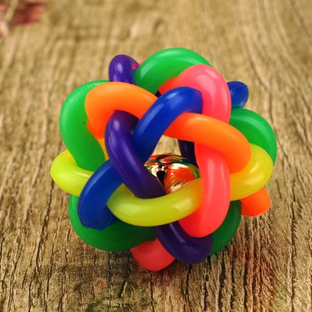 Dog toy ball color rubber woven ball dog toy ball vocal molar rainbow ball - image 4 of 6