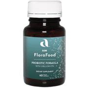 AIM Flora Food Probiotic Formula Dietary Supplements 60 Vegan Capsules (2 Pack)