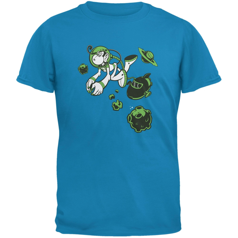 Space Monkey Sapphire Blue Adult T-Shirt