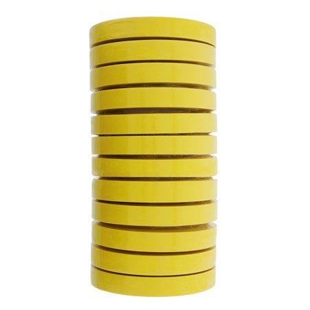 3M 06652 Crepe Paper Automotive Refinish Masking Tape 3/4 Inch 12 Rolls, Yellow