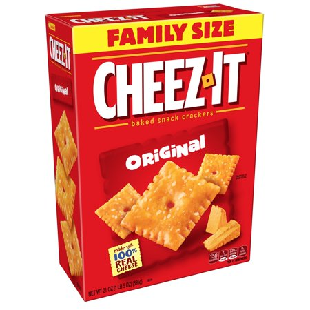 Cheez-It Baked Snack Cheese Crackers Original Family Size, 21 oz - Clackers For Sale