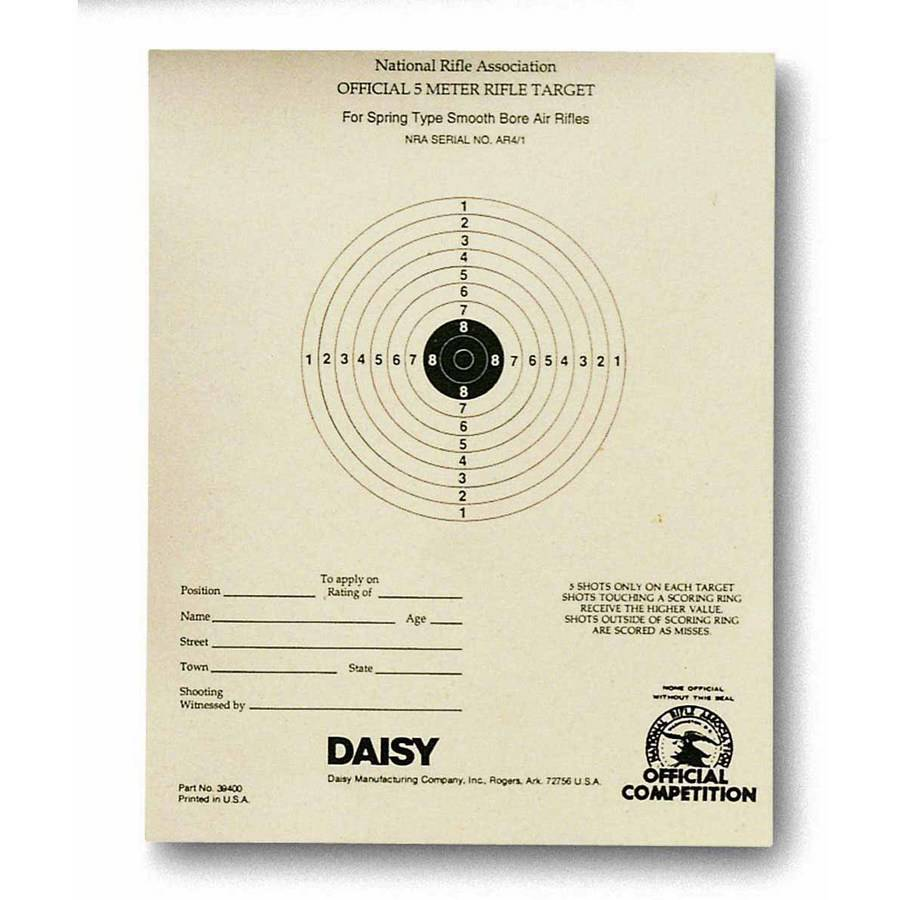 Daisy Daisy Official NRA 5-meter BB Target